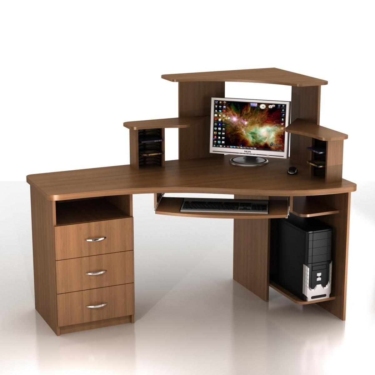 Компьютерный стол с надстройкой КС-16-2Т+КН-3