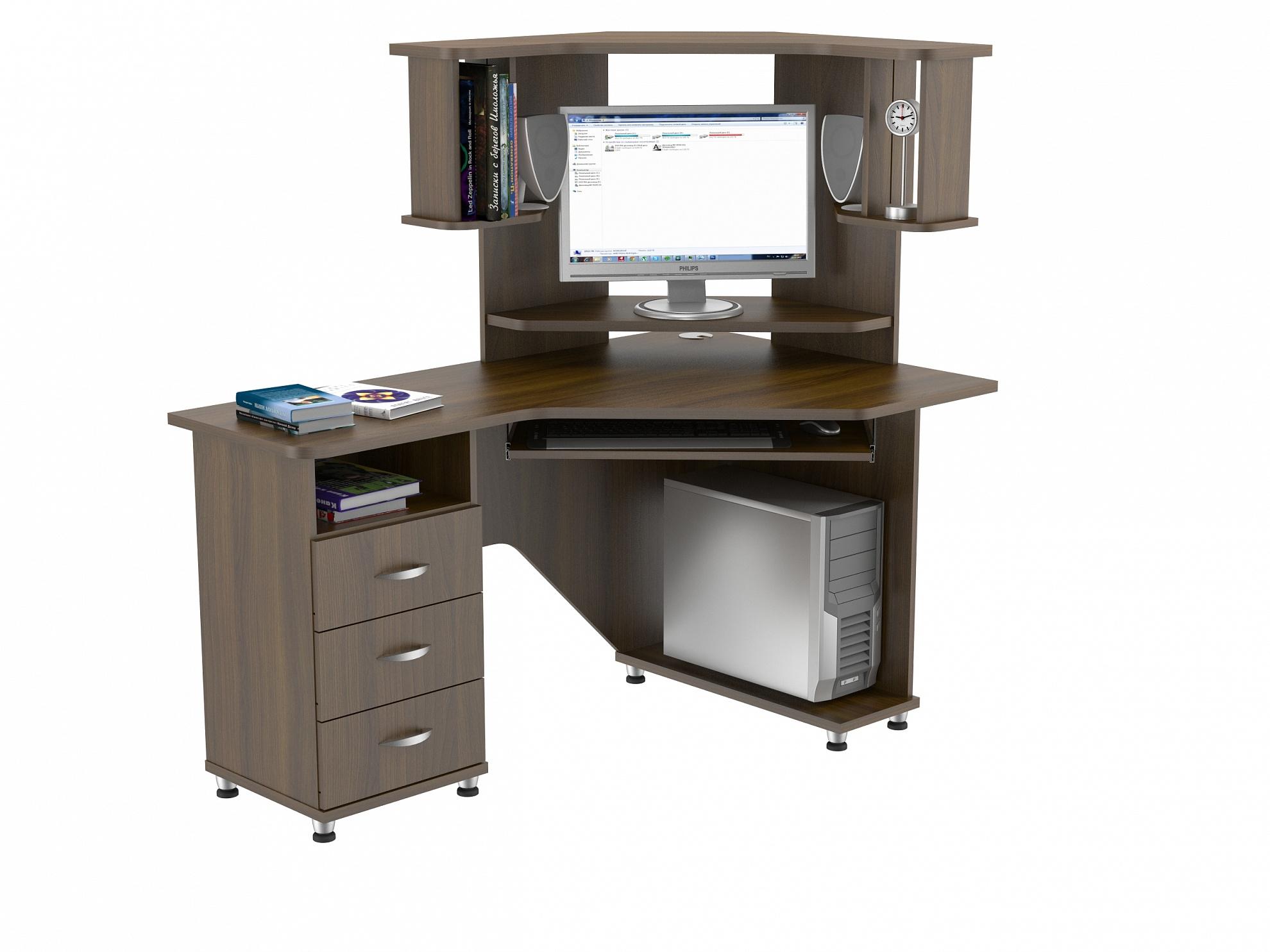 Компьютерный стол КС 20-18м1Компьютерные столы<br>размер: 1400х890 В1440<br><br>Материалы: ЛДСП, кромка ПВХ<br>Полный размер: 1400х890 В1440<br>Габарит монитора: 44х49 (диагональ от 15 до 19)<br>Вес товара (кг): 73<br>Цвет: Дуб Сонома, Орех Валенсия<br>Примечание: Доставляется в разобранном виде<br>Изготовление и доставка: 2-3 дня<br>Условия доставки: Бесплатная по Москве до подъезда<br>Условие оплаты: Оплата наличными при получении товара<br>Подъем на грузовом лифте: 500 руб.<br>Гарантия: 12 месяцев<br>Производство: Россия, г. Москва<br>Производитель: ВасКо (Дик)