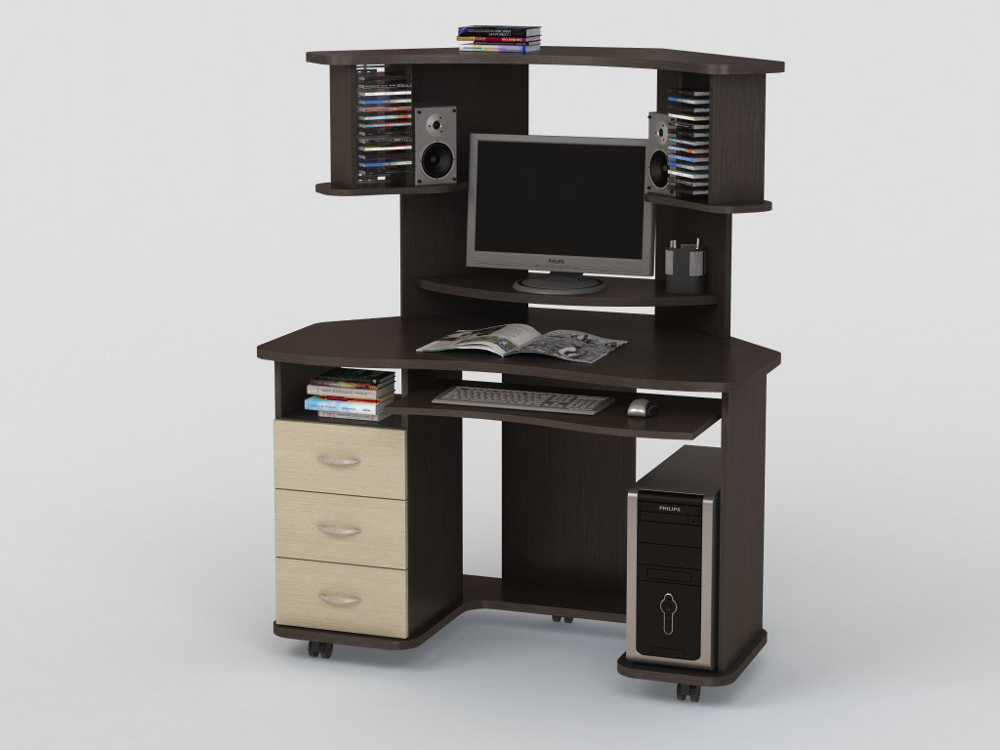 Компьютерный стол КС 20-16м3Компьютерные столы<br>размер: 1400х890 В1430<br><br>Материалы: ЛДСП, кромка АВС<br>Полный размер: 1400х890 В1430<br>Габарит монитора: 49х49 (диагональ от 15 до21)<br>Вес товара (кг): 69<br>Цвет: Венге/Дуб молочный, Дуб сонома, Орех Валенсия<br>Примечание: Доставляется в разобранном виде<br>Изготовление и доставка: 2-3 дня<br>Условия доставки: Бесплатная по Москве до подъезда<br>Условие оплаты: Оплата наличными при получении товара<br>Подъем на лифте: 500 руб.<br>Гарантия: 12 месяцев<br>Производство: Россия, г. Москва<br>Производитель: ВасКо (Дик)