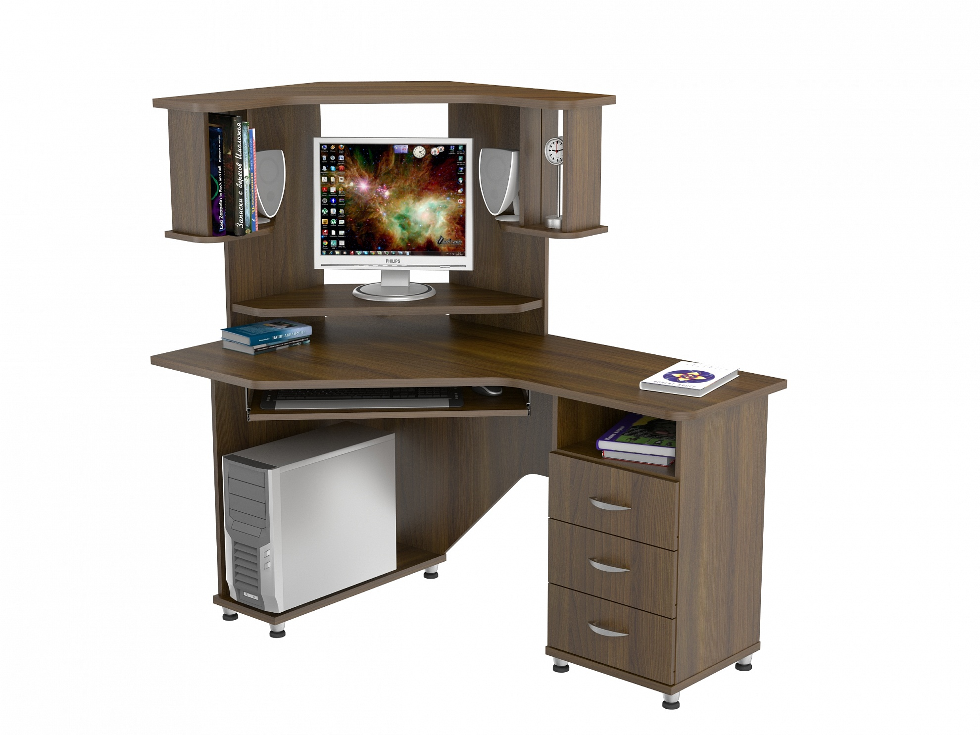 Компьютерный стол КС 20-17м2Компьютерные столы<br>Размер: 1400х890 В1440<br><br>Материалы: ЛДСП, кромка ПВХ<br>Полный размер (ДхГхВ): 1400х890х1440<br>Габарит монитора: 44х49 (диагональ от 15 до 19)<br>Вес товара (кг): 73<br>Цвет: Дуб Сонома, Орех Валенсия<br>Примечание: Доставляется в разобранном виде<br>Изготовление и доставка: 2-3 дня<br>Условия доставки: Бесплатная по Москве до подъезда<br>Условие оплаты: Оплата наличными при получении товара<br>Доставка по МО (за пределами МКАД): 30 руб./км<br>Подъем на лифте: 500 руб.<br>Гарантия: 12 месяцев<br>Производство: Россия, г. Москва<br>Производитель: ВасКо (Дик)