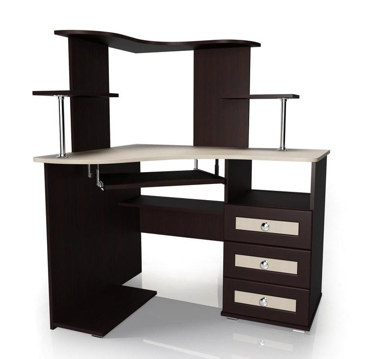 Компьютерный угловой стол Мебелайн-35 компьютерный стол кс 20 30