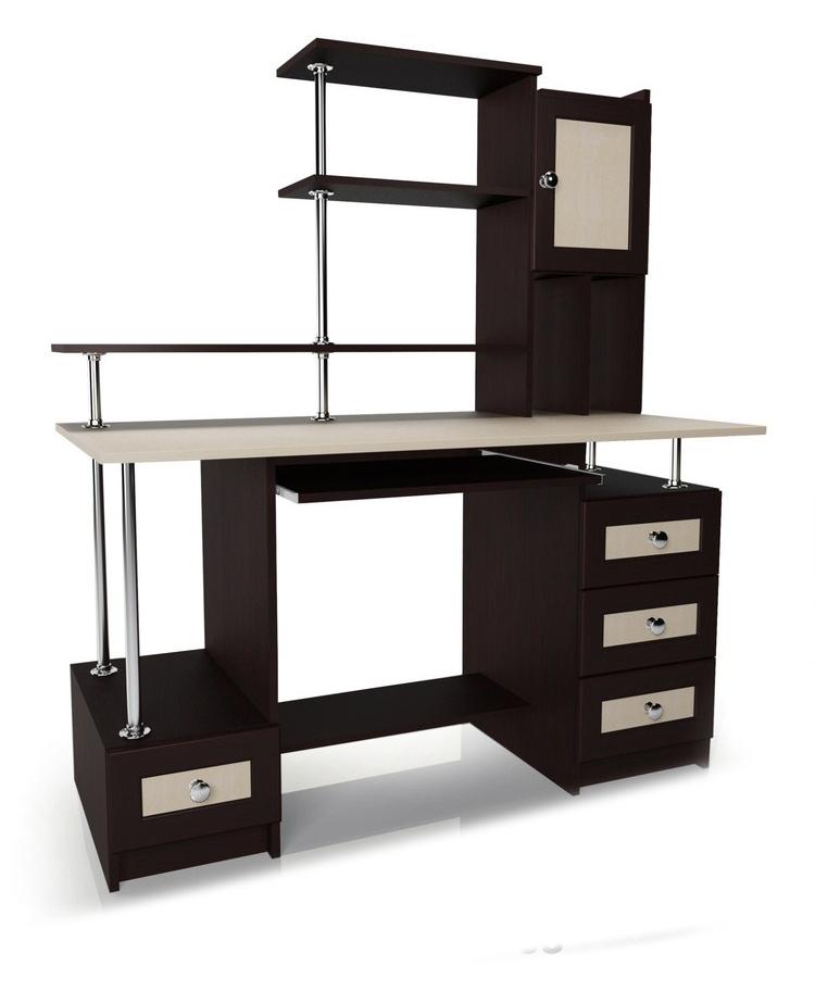 Компьютерный стол Мебелайн-38Компьютерные столы<br>Размер: 1300/600 В1520<br><br>Материалы: ЛДСП, кромка ПВХ, рамка МДФ<br>Полный размер (ДхГхВ): 1300х600х1520<br>Примечание: Доставляется в разобранном виде<br>Изготовление и доставка: 5-7 дней, дни доставок среда и суббота<br>Условия доставки: Бесплатная по Москве до подъезда<br>Условие оплаты: Оплата наличными при получении товара<br>Доставка по МО (за пределами МКАД): 30 руб./км<br>Доставка в пределах ТТК: Доставка в центр Москвы осуществляется ночью, с 22.00 до 6.00 утра<br>Подъем на лифте: 300 руб.<br>Подъем без лифта: 150 руб./этаж, включая первый<br>Сборка: 1000 руб.<br>Гарантия: 12 месяцев<br>Производство: Россия<br>Производитель: Мебелайн