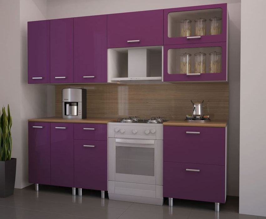 Кухонный гарнитур Венеция-Фиолет 1500