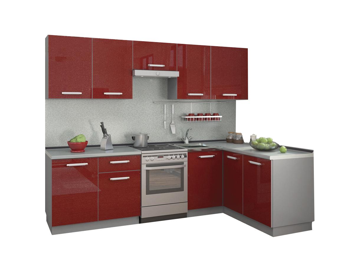 Кухня угловая Симпл 2700х1500 пластик шкаф навесной ультра