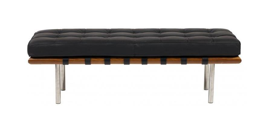 DG-HOME Кушетка Barcelona Bench Black Leather цена