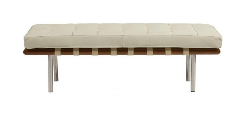 DG-HOME DG-HOME Кушетка Barcelona Bench Cream Premium Leather цена и фото