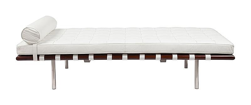 DG-HOME Кушетка Barcelona Couch Белая Кожа Класса Премиум