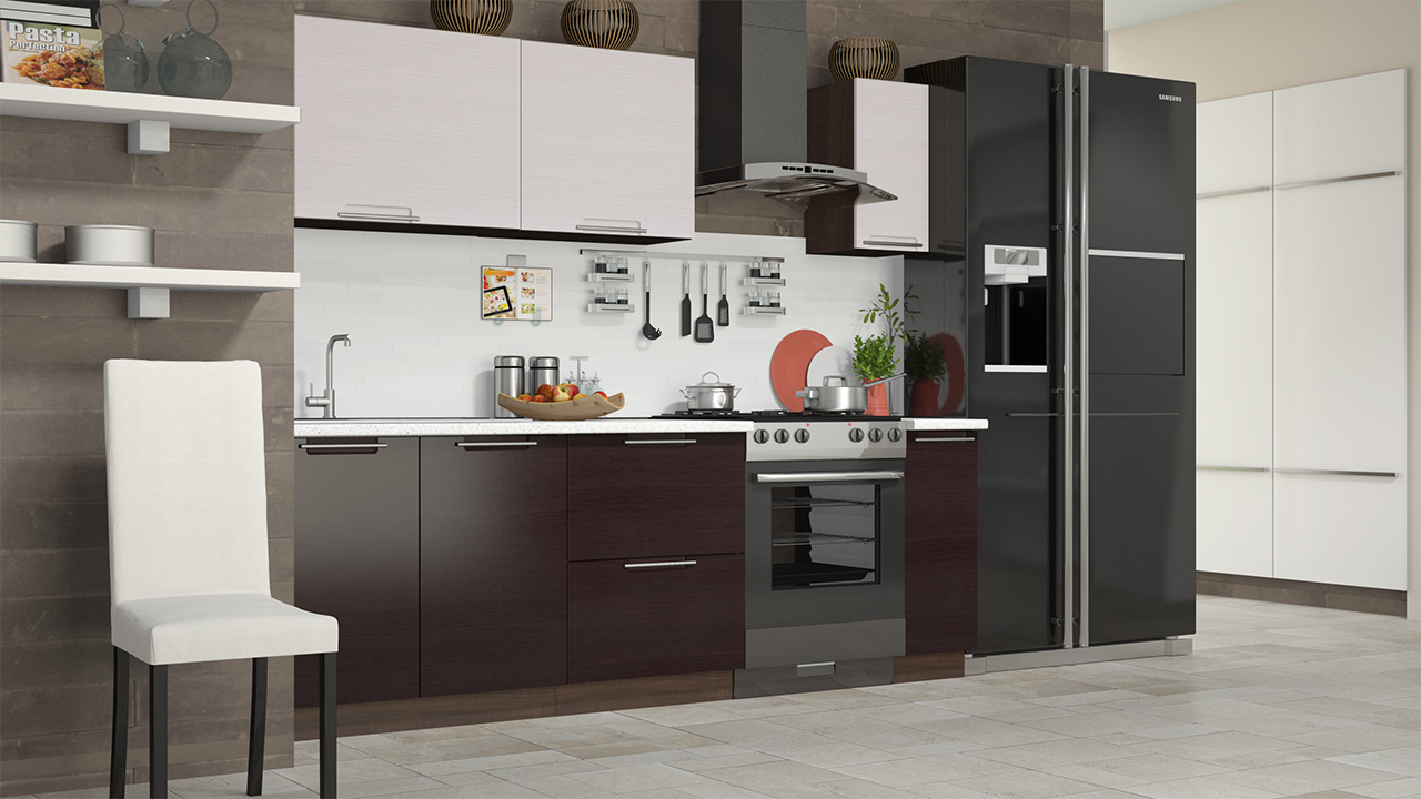 Кухонный гарнитур стандартный набор Латте-2 кухонный гарнитур трия ассорти вишня 2 240 х 210 см
