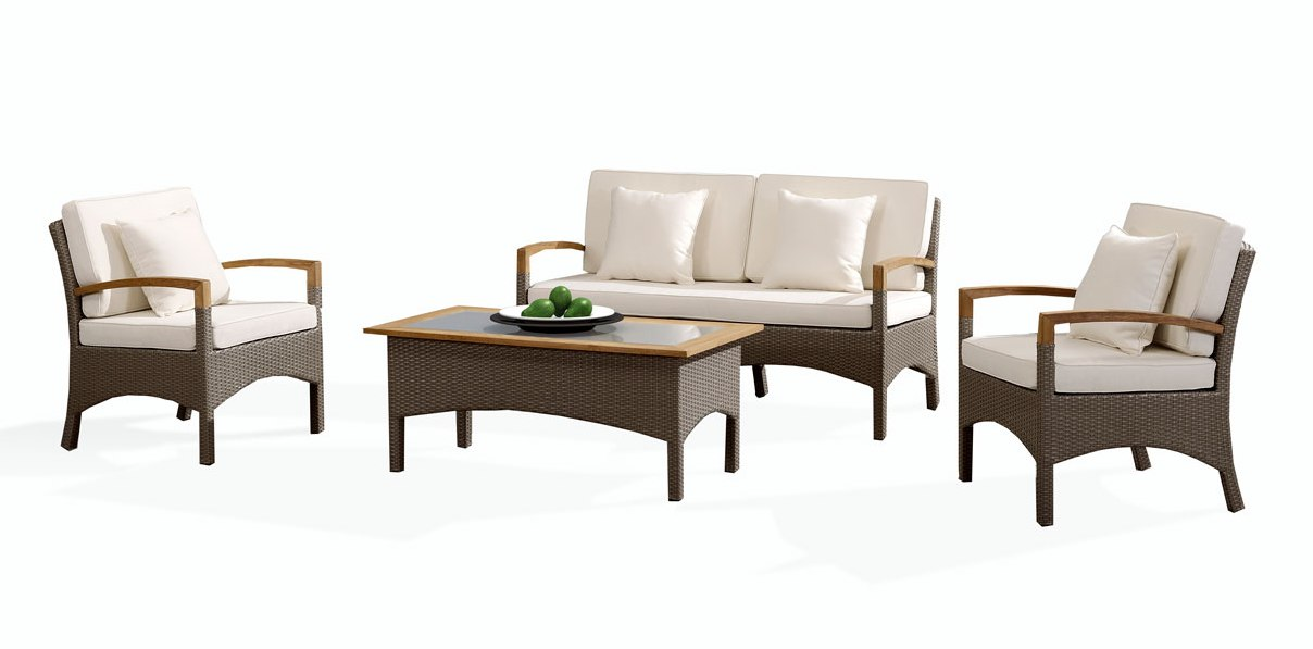 Лаунж зона Верона 4sisПлетеная мебель из искусственного ротанга<br>Размер: Диван: 150х75 В84, кресло: 67х75 В84, стол: 120х60 В48<br><br>Материалы: Искусственный ротанг, массив тика, стекло закаленное - 5 мм<br>Каркас: Алюминиевый<br>Полный размер (ДхГхВ): Диван: 150х75 В84, кресло: 67х75 В84, стол: 120х60 В48<br>Комплектация: Диван, кресло 2 шт., стол, подушки<br>Цвет: Серо-коричневый<br>Изготовление и доставка: 2-3 дня<br>Условия доставки: Бесплатная по Москве до подъезда<br>Условие оплаты: Оплата наличными при получении товара<br>Производство: Китай<br>Производитель: 4sis
