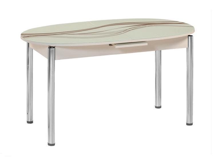 Стол обеденный М18Обеденные столы<br>Размер: 140/170х80 В75<br><br>Механизм: Раскладной<br>Материалы: Хромированный каркас, столешница - закаленное стекло с узором<br>Полный размер: 140/170х80 В75<br>Вес товара (кг): 35,2 кг<br>Цвет: Белый, крем, черный<br>Изготовление и доставка: 2-3 дня<br>Условия доставки: Бесплатная по Москве до подъезда<br>Условие оплаты: Оплата наличными при получении товара<br>Подъем на лифте: 500 руб<br>Гарантия: 12 месяцев<br>Производство: Турция