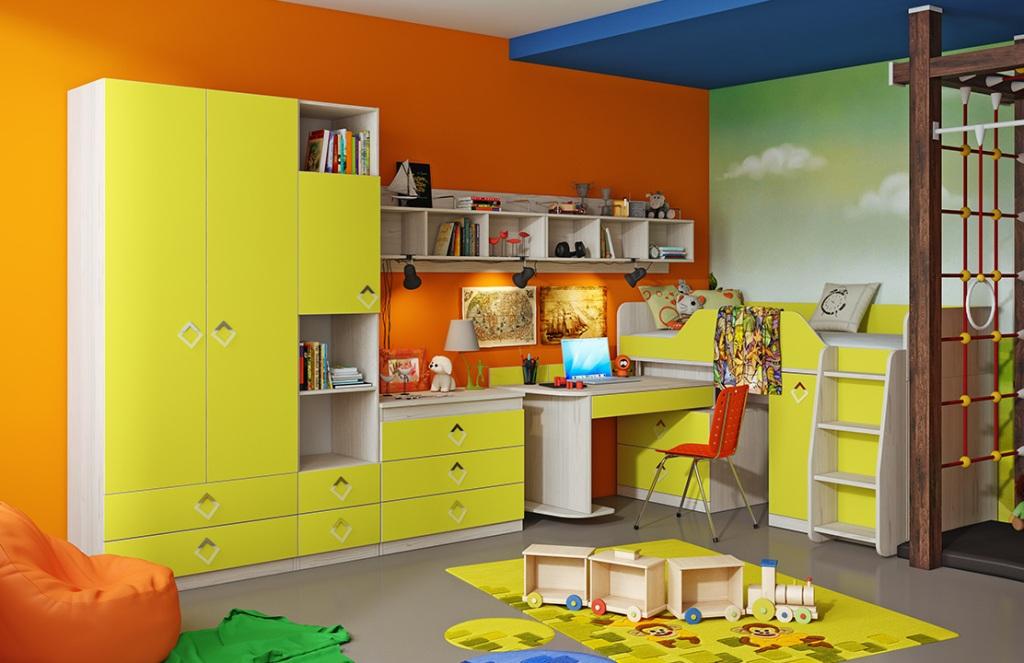 Модульная детская комната Аватар №2 ГН-201.002 мебель трия полка навесная аватар тд 201 08 каттхилтtri 55034tri 55034