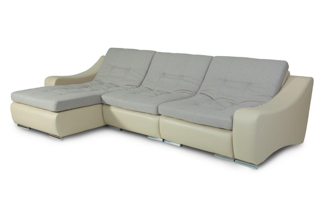 Угловой модульный диван Монреаль-4Угловые диваны<br>Размер: 110х320 В82<br><br>Материалы: Пиломатериал хвойных пород, фанера<br>Каркас: Деревянный<br>Полный размер (ДхГхВ): 110х320х82<br>Наполнитель: ППУ высокой плотности (Пенополиуретан)<br>Примечание: Стоимость указана по минимальной категории ткани<br>Изготовление и доставка: 6-10 дней<br>Условия доставки: Бесплатная по Москве до подъезда<br>Условие оплаты: Оплата наличными при получении товара<br>Доставка по МО (за пределами МКАД): 30 руб./км<br>Доставка в пределах ТТК: +500 руб. Доставка в центр Москвы осуществляется ночью, с 22.00 до 7.00 утра<br>Подъем на грузовом лифте: 500 руб.<br>Подъем без лифта: 300 руб./этаж<br>Сборка: 300 руб. Модули скрепляются между собой (замок-карман 505)<br>Гарантия: 18 месяцев<br>Производство: Россия<br>Производитель: Пять Звезд