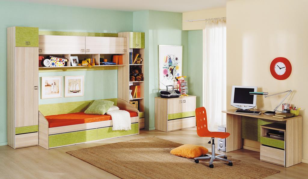 Модульная детская комната Киви №13 ГН-139.013 капитан детская и взрослая модульная мебель мдф