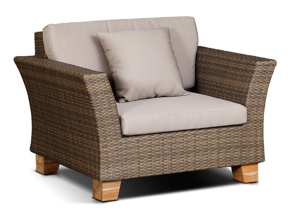 Плетеное кресло ФеррараПлетеная мебель из искусственного ротанга<br>Размер: 105х82 В71<br><br>Артикул: 610324<br>Материалы: Искусственный ротанг, массив тика<br>Каркас: Алюминий<br>Полный размер (ДхГхВ): 105х82 В71<br>Комплектация: Кресло, подушки<br>Цвет: Серо-коричневый<br>Изготовление и доставка: 2-3 дня<br>Условия доставки: Бесплатная по Москве до подъезда<br>Условие оплаты: Оплата наличными при получении товара<br>Производство: Китай<br>Производитель: 4sis