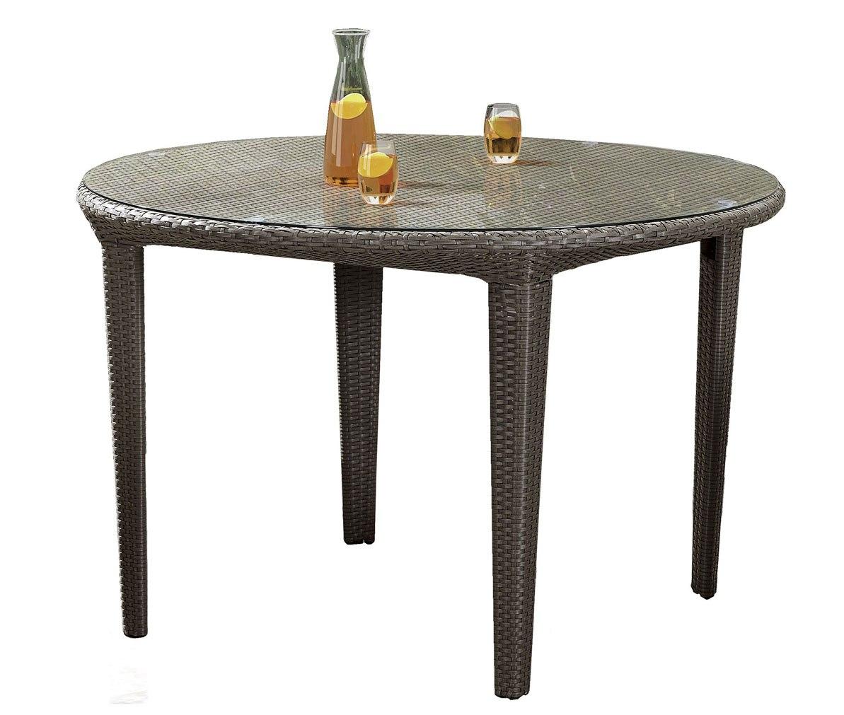 Стол из ротанга КасабланкаПлетеная мебель из искусственного ротанга<br>Размер: 120х120 В76<br><br>Артикул: 619372<br>Материалы: Искусственный ротанг, стекло закаленное - 5 мм<br>Каркас: Алюминий<br>Полный размер (ДхГхВ): 120х120 В76<br>Цвет: Серо-коричневый<br>Изготовление и доставка: 2-3 дня<br>Условия доставки: Бесплатная по Москве до подъезда<br>Условие оплаты: Оплата наличными при получении товара<br>Производство: Китай<br>Производитель: 4sis