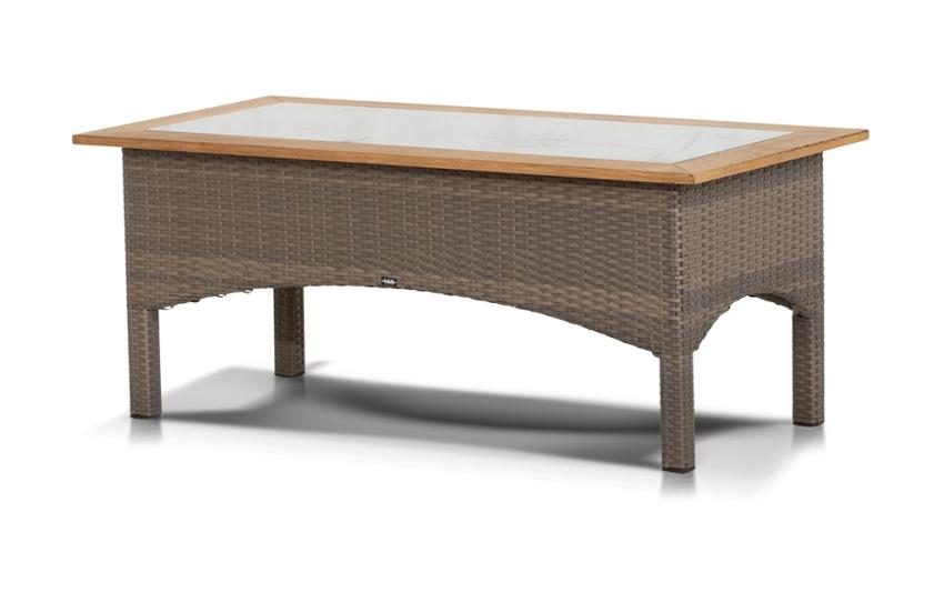 Журнальный столик из ротанга ВеронаПлетеная мебель из искусственного ротанга<br>Размер: 120х60 В48<br><br>Артикул: 633681<br>Материалы: Искусственный ротанг, массив тика, стекло закаленное - 5 мм<br>Каркас: Алюминиевый<br>Полный размер (ДхГхВ): 120х60 В48<br>Комплектация: Серо-коричневый<br>Изготовление и доставка: 2-3 дня<br>Условия доставки: Бесплатная по Москве до подъезда<br>Условие оплаты: Оплата наличными при получении товара<br>Производство: Китай<br>Производитель: 4sis