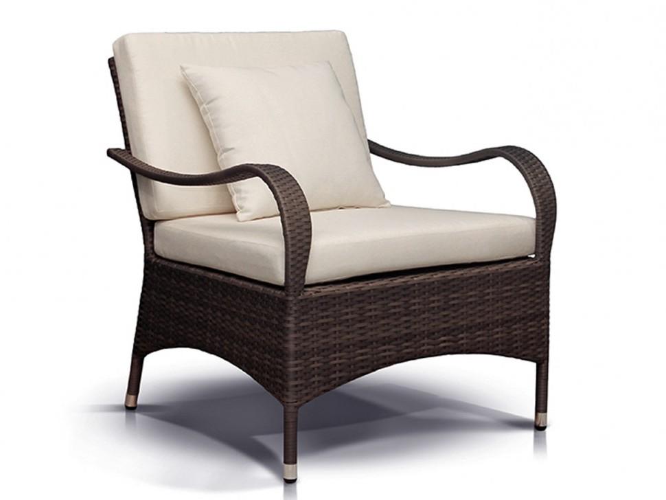 Плетеное кресло ПьемонтПлетеная мебель из искусственного ротанга<br>Размер: 86х75 В84<br><br>Артикул: 633821<br>Материалы: Искусственный ротанг<br>Каркас: Алюминий<br>Полный размер (ДхГхВ): 86х75 В84<br>Комплектация: Кресло, подушка со съемными чехлами<br>Цвет: Серо-коричневый<br>Изготовление и доставка: 2-3 дня<br>Условия доставки: Бесплатная по Москве до подъезда<br>Условие оплаты: Оплата наличными при получении товара<br>Производство: Китай<br>Производитель: 4sis