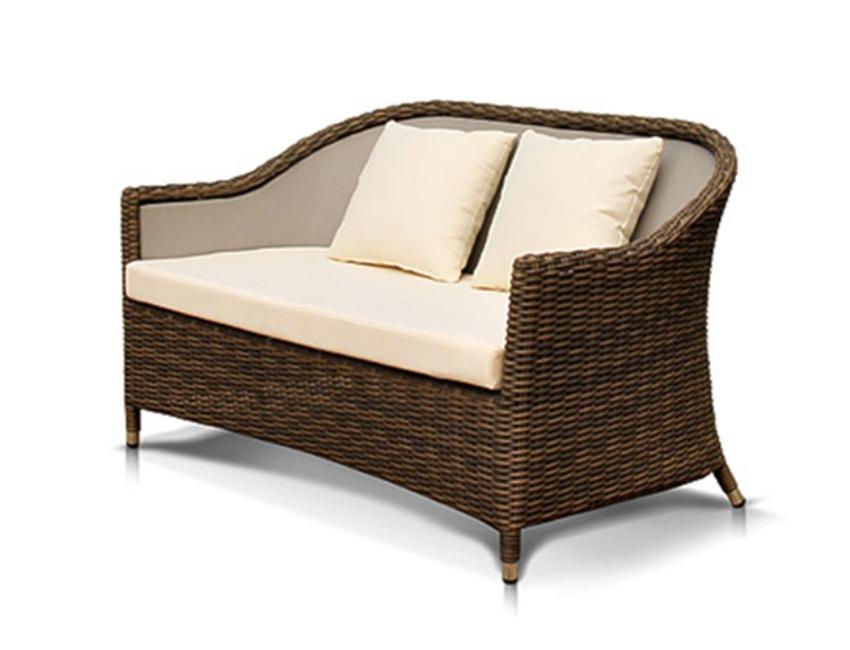 Диван ОрвиеттоПлетеная мебель из искусственного ротанга<br>Размер: 134х78 В81<br><br>Артикул: 641831<br>Материалы: Искусственный ротанг<br>Каркас: Алюминий<br>Полный размер (ДхГхВ): 134х78 В81<br>Комплектация: Диван, подушки со съемными чехлами<br>Цвет: Серо-коричневый<br>Изготовление и доставка: 2-3 дня<br>Условия доставки: Бесплатная по Москве до подъезда<br>Условие оплаты: Оплата наличными при получении товара<br>Производство: Китай<br>Производитель: 4sis