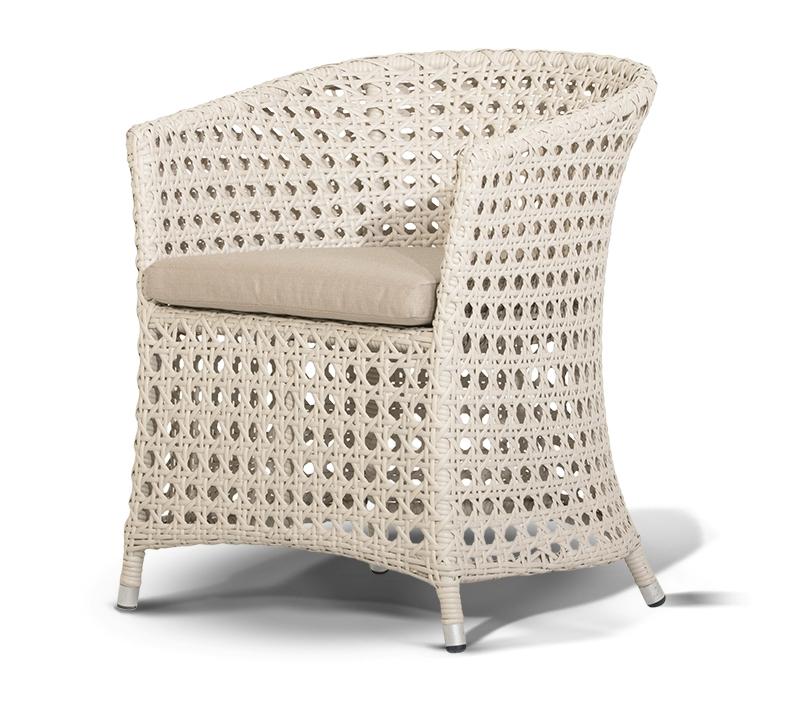 Плетеный стул МадейраПлетеная мебель из искусственного ротанга<br>Размер: 61х62 В75<br><br>Артикул: 643071<br>Материалы: Искусственный ротанг<br>Каркас: Алюминиевый<br>Полный размер (ДхГхВ): 61х62 В75<br>Комплектация: Кресло, подушка со съемным чехлом<br>Цвет: Белый<br>Изготовление и доставка: 2-3 дня<br>Условия доставки: Бесплатная по Москве до подъезда<br>Условие оплаты: Оплата наличными при получении товара<br>Производство: Китай<br>Производитель: 4sis