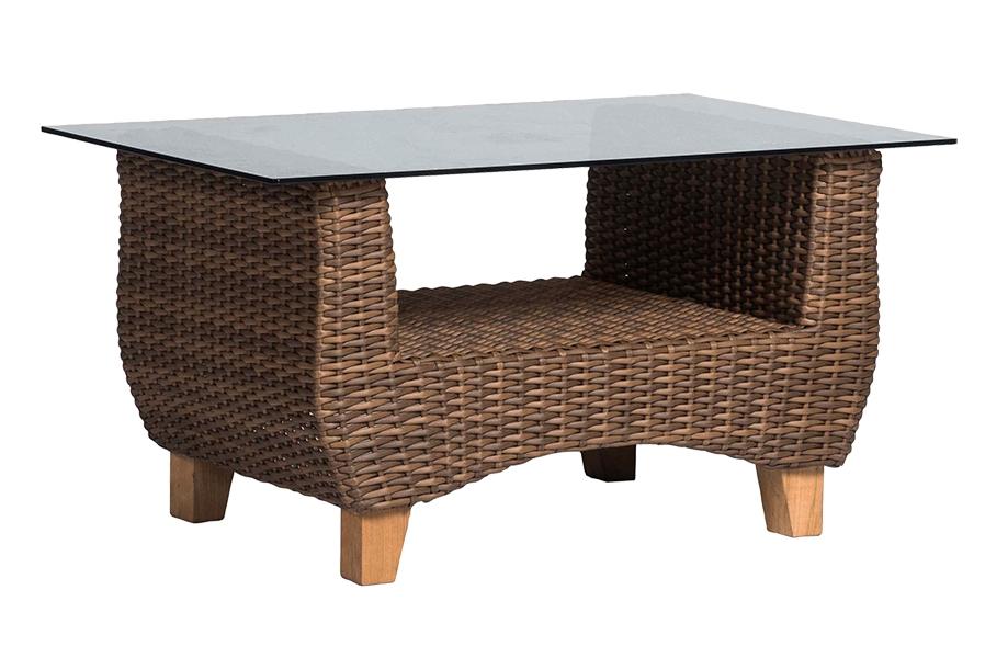 Кофейный столик НолаПлетеная мебель из искусственного ротанга<br>Размер: 105х66 В52<br><br>Артикул: А004D1<br>Материалы: Искусственный ротанг, массив тика, стекло закаленное<br>Каркас: Алюминий<br>Полный размер (ДхГхВ): 105х66 В52<br>Цвет: Коричневый<br>Изготовление и доставка: 2-3 дня<br>Условия доставки: Бесплатная по Москве до подъезда<br>Условие оплаты: Оплата наличными при получении товара<br>Производство: Китай<br>Производитель: 4sis