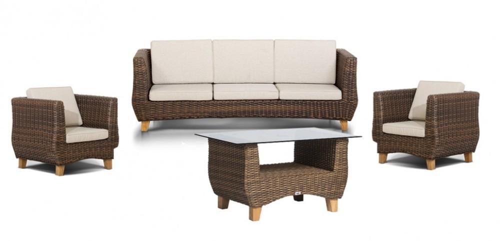 Лаунж зона НолаПлетеная мебель из искусственного ротанга<br>Размер: Диван: 211х77 В71, кресло: 86х77 В71, стол: 105х66 В52<br><br>Материалы: Искусственный ротанг, массив тика, стекло закаленное<br>Каркас: Алюминиевый<br>Полный размер (ДхГхВ): Диван: 211х77 В71, кресло: 86х77 В71, стол: 105х66 В52<br>Комплектация: Диван, кресло - 2 шт., стол, подушки<br>Цвет: Коричневый<br>Изготовление и доставка: 2-3 дня<br>Условия доставки: Бесплатная по Москве до подъезда<br>Условие оплаты: Оплата наличными при получении товара<br>Производство: Китай<br>Производитель: 4sis