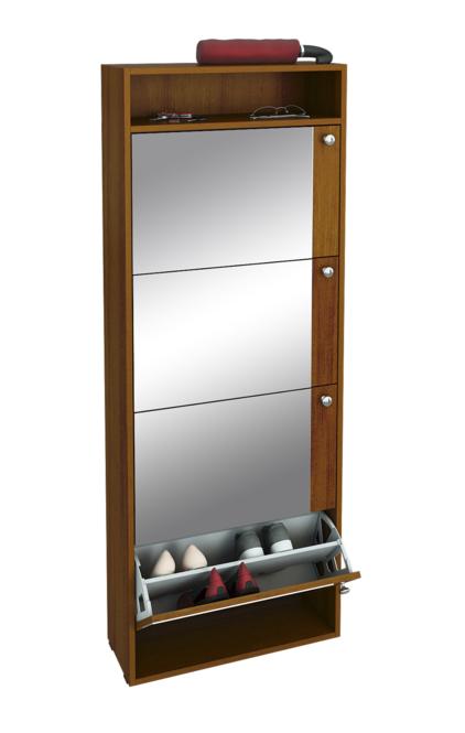 Обувница с зеркалом Милан-27