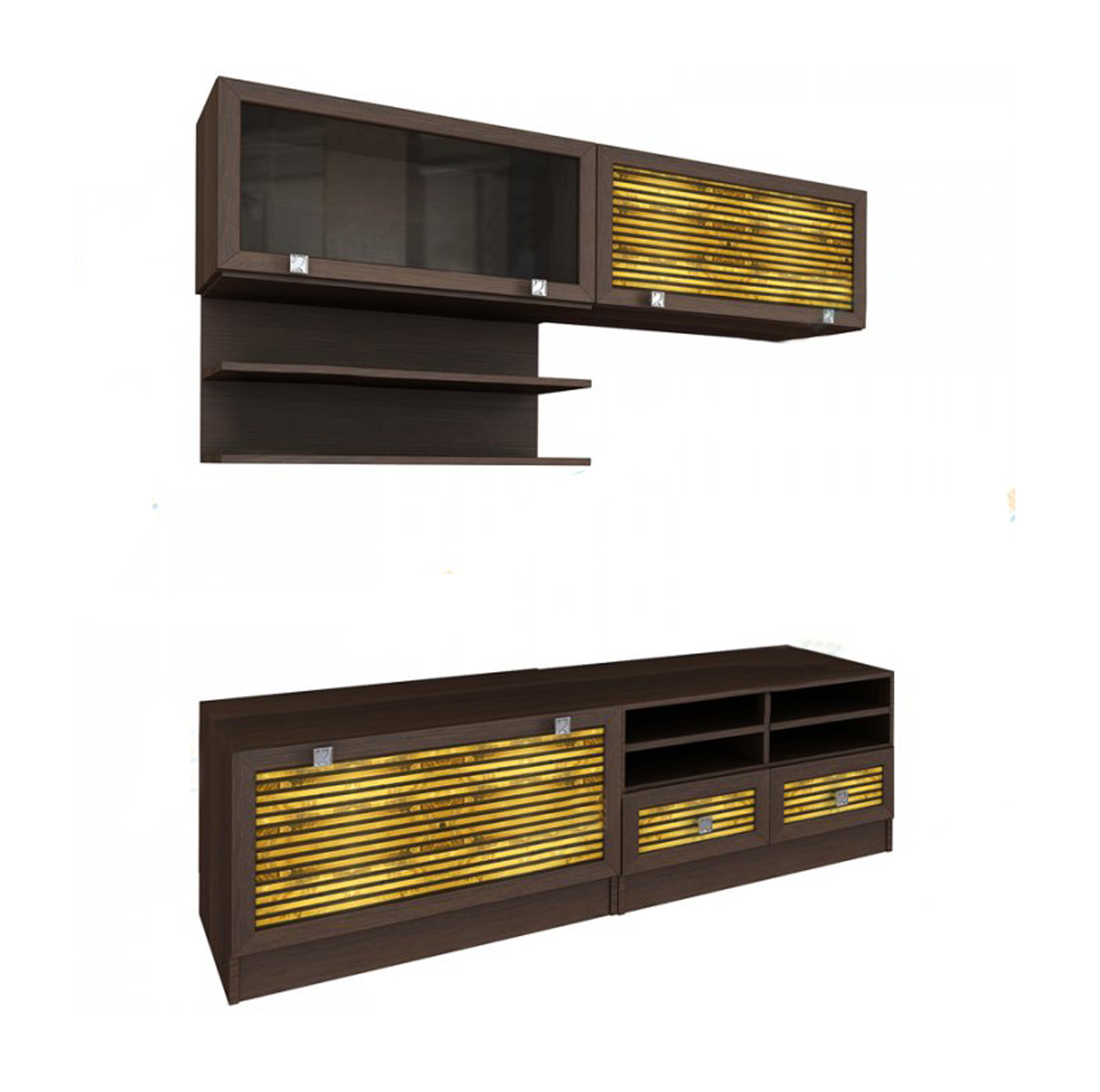 Модульная гостиная Бали-6Стенки<br>Размер: 1800х2080х330/450<br><br>Материалы: ЛДСП, рамка МДФ, вставки из бамбука, стекло<br>Полный размер (ДхВхГ): 1800х2080х330/450<br>Примечание: Доставляется в разобранном виде<br>Важно: Возможно приобрести по предметно, стоимость и габарит уточняйте у менеджера<br>Изготовление и доставка: 8-15 дней<br>Условия доставки: Бесплатная по Москве до подъезда<br>Условие оплаты: Оплата наличными при получении товара<br>Доставка по МО (за пределами МКАД): 30 руб./км<br>Подъем на грузовом лифте: 700 руб.<br>Подъем без лифта: 400 руб./этаж, если только на первый этаж / занос в дом - 500 руб.<br>Сборка: 10% от стоимости изделия<br>Гарантия: 18 месяцев<br>Производство: Россия<br>Производитель: Вереск