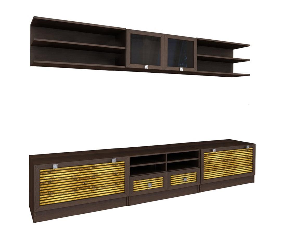 Модульная гостиная Бали-7Стенки<br>Размер: 3000х2080х330/450<br><br>Материалы: ЛДСП, рамка МДФ, вставки из бамбука, стекло<br>Полный размер (ДхВхГ): 3000х2080х330/450<br>Примечание: Доставляется в разобранном виде<br>Важно: Возможно приобрести по предметно, стоимость и габарит уточняйте у менеджера<br>Изготовление и доставка: 8-15 дней<br>Условия доставки: Бесплатная по Москве до подъезда<br>Условие оплаты: Оплата наличными при получении товара<br>Доставка по МО (за пределами МКАД): 30 руб./км<br>Подъем на грузовом лифте: 1000 руб.<br>Подъем без лифта: 500 руб./этаж, если только на первый этаж / занос в дом - 500 руб.<br>Сборка: 10% от стоимости изделия<br>Гарантия: 18 месяцев<br>Производство: Россия<br>Производитель: Вереск