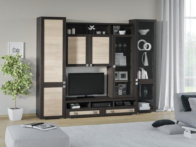 Модульная гостиная Корсика Композиция 1 модульная мебель композиция 7 б