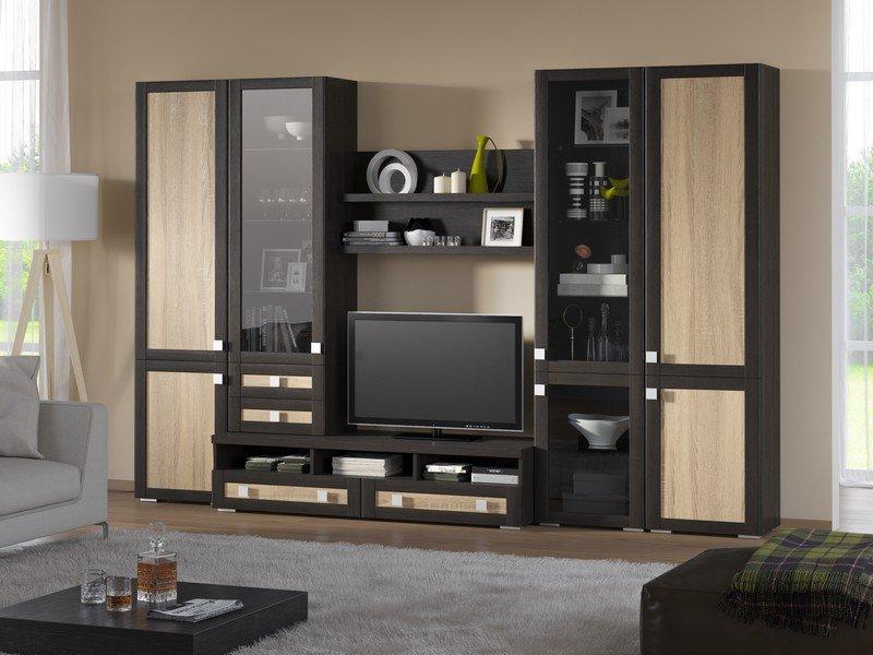 Модульная гостиная Корсика Композиция 5 модульная мебель композиция 7 б