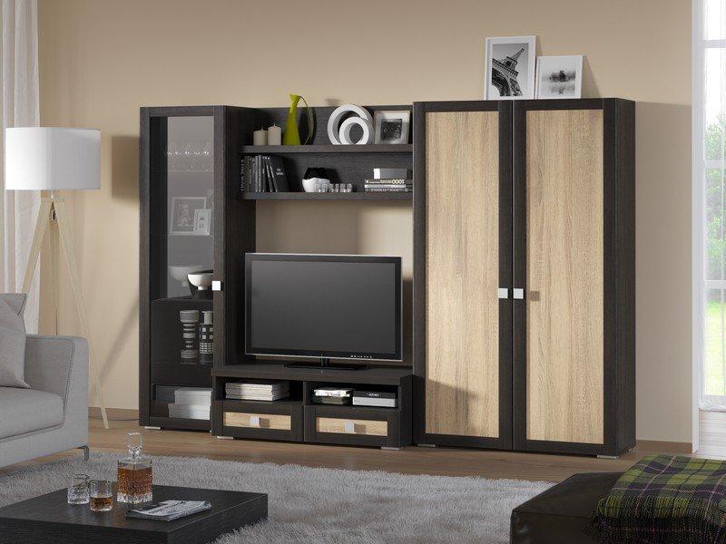 Модульная гостиная Корсика Композиция 9 модульная мебель композиция 7 б