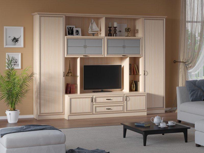 Модульная гостиная Ника Композиция 2 модульная мебель композиция 7 б