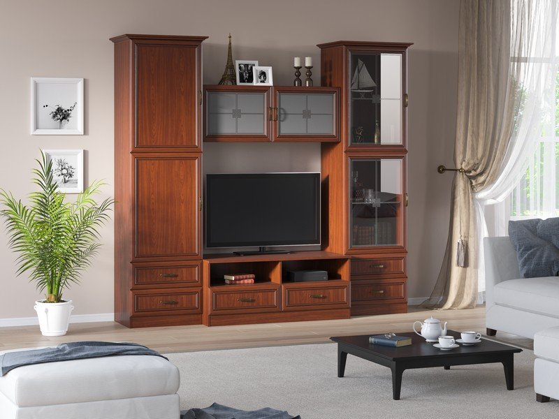 Модульная гостиная Ника Композиция 7 модульная мебель композиция 7 б