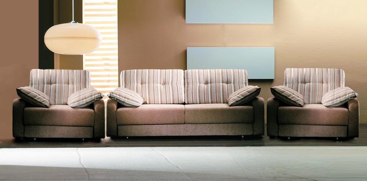 Комплект мягкой мебели Регата Фиеста Размер: диван: 222х115 В90 (сп. м. 147х190), кресло: 105х110 В90 (сп. м. 75х224)