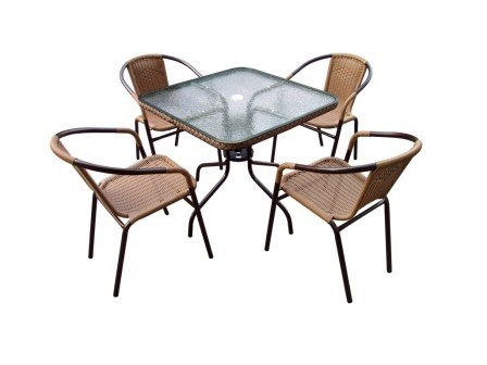 Комплект мебели для дачи Николь-2A квадрат Афина Мебель