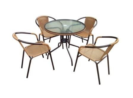 Комплект мебели для дачи Николь-1А круглый