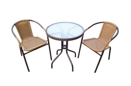 Набор садовой мебели 2+1 Асоль-1А Афина Мебель