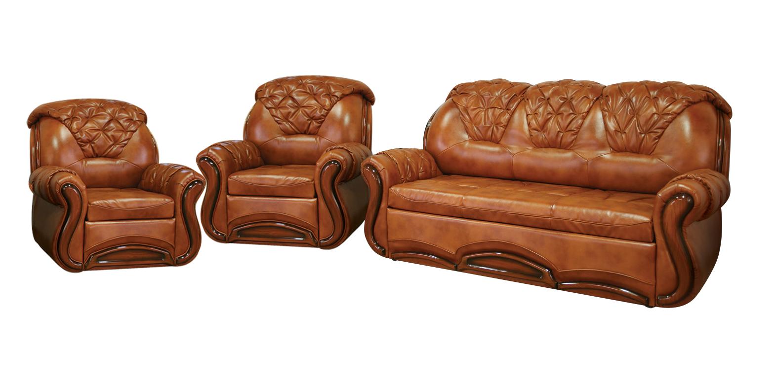 Комплект мягкой мебели Версаль Фокстрот Размер: диван: 195х95 В100 (сп. м. 150х190); кресло: 107х95 В100 (сп. м. 53х190)