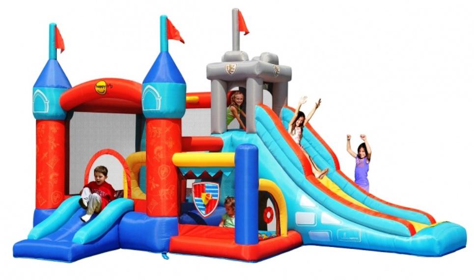 Надувной батут Цитадель 3 в 1 9021 Happy Hop детский батут мини замок 4 в 1 9114 happy hop