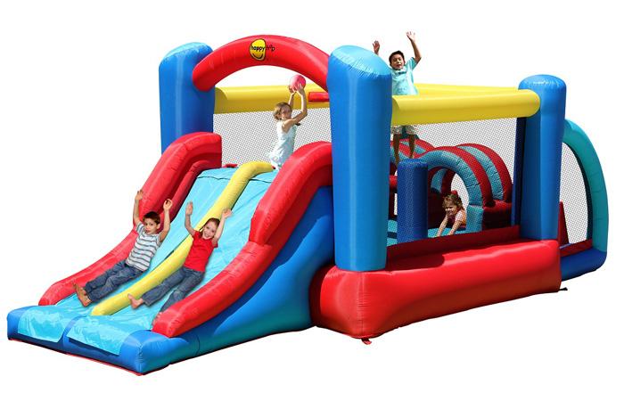 Надувной батут Неожиданные Препятствия 9163 Happy Hop детский надувной батут happy hop веселый досуг 9004b