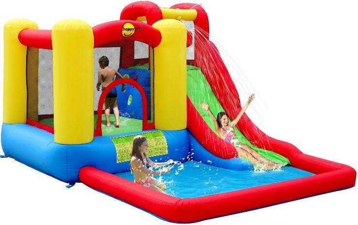 Надувной батут с горкой Скольжение 9271 Happy Hop надувная двойная горка с водой жара 9129 happy hop