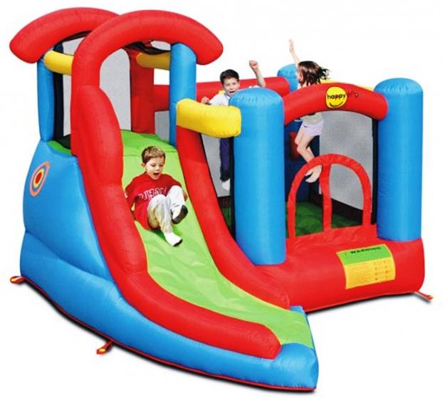 Надувной батут Веселый малыш 6 в 1 9371 Happy Hop детский надувной батут happy hop веселый досуг 9004b