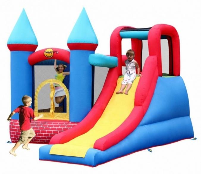 Надувной батут Замок с горкой 9007 Happy Hop надувная двойная горка с водой жара 9129 happy hop