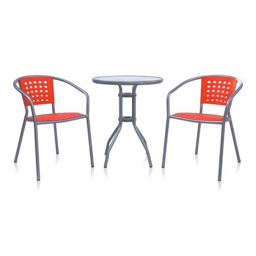 Стол и 2 стула для дачи ХRB-042А-D60