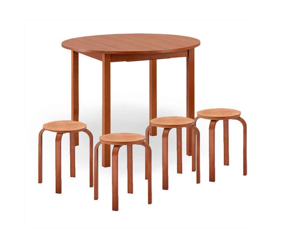Обеденная группа-4 обеденная группа с круглым столом для кухни боровичи норония 4 диметра