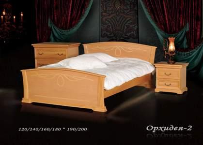 Деревянная кровать Орхидея-2