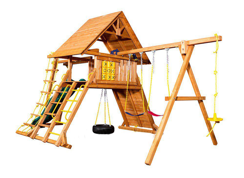 Деревянная площадка для детей Original Castle II Playgarden