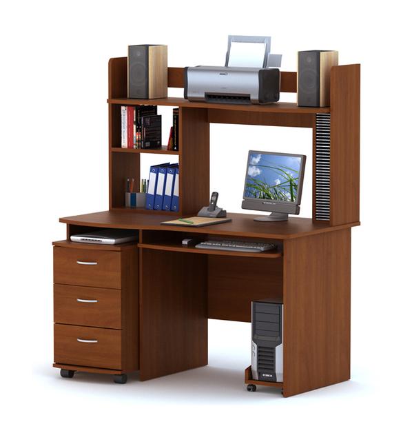Письменный стол с надставкой ПС03.01 + ТБ03.02 + ВС03.03 + ПБ01.00