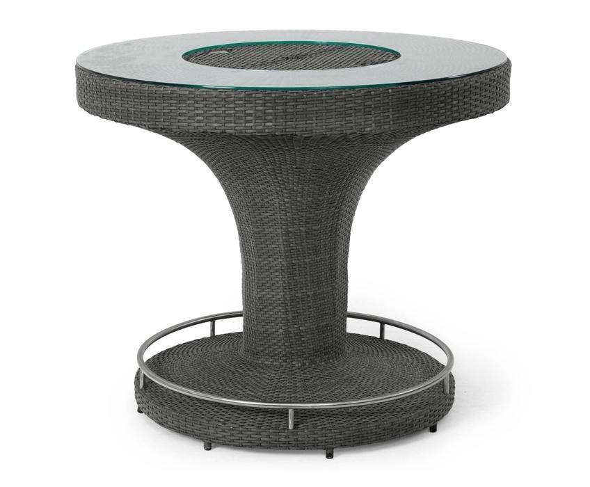 Плетеная барная стойка EdinburghПлетеная мебель из искусственного ротанга<br>Размер: &amp;#216; 120 В102<br><br>Артикул: 22236-7<br>Материалы: Искусственный ротанг, стекло<br>Каркас: Алюминиевый<br>Полный размер: &amp;#216; 120 В102<br>Цвет: Серый<br>Примечание: В средней части встроенное отверстие для прохладительных напитков, подставка для ног<br>Изготовление и доставка: 2-3 дня<br>Условия доставки: Бесплатная по Москве до подъезда<br>Условие оплаты: Оплата наличными при получении товара<br>Гарантия: 12 месяцев<br>Производство: Швеция<br>Производитель: Brafab