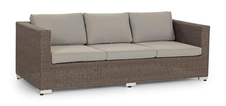 Плетеная софа Ninja-6Плетеная мебель из искусственного ротанга<br>Размер: 212х88 В66<br><br>Артикул: 350645-26<br>Материалы: Искусственный ротанг<br>Каркас: Алюминиевый<br>Полный размер: 212х88 В66<br>Комплектация: Подушки<br>Цвет: Natur, grey<br>Изготовление и доставка: 2-3 дня<br>Условия доставки: Бесплатная по Москве до подъезда<br>Условие оплаты: Оплата наличными при получении товара<br>Гарантия: 12 месяцев<br>Производство: Швеция<br>Производитель: Brafab